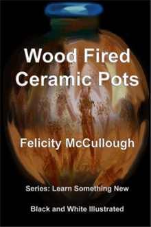 Title: Wood Fired Ceramic Pots - Description: Wood Fired Ceramic Pots Black and White Illustrated